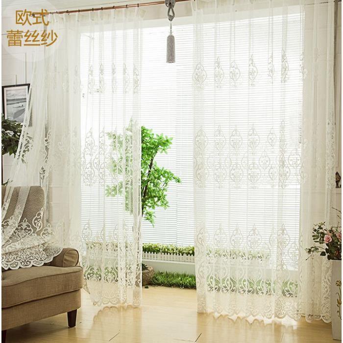 White lace rideaux balcon vivre rideaux des chambres - Rideaux pour balcon ...