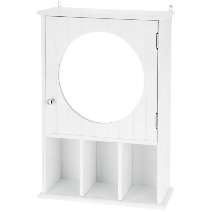 armoire murale de toilette salle de bain avec casier de rangement et miroir achat vente. Black Bedroom Furniture Sets. Home Design Ideas