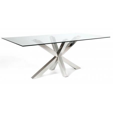 table en verre 200 cm