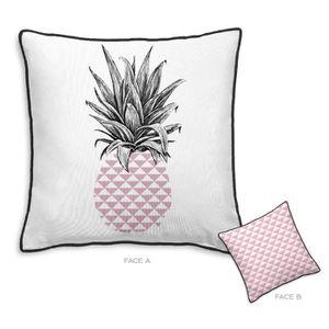 TODAY Coussin déhoussable 100% coton California Dream Ananas 40x40 cm barbapapa