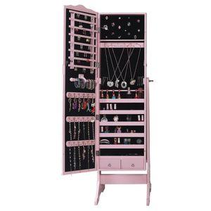 armoire a bijoux armoire bijoux avec miroir rose cabinet bote ra - Miroir Range Bijoux