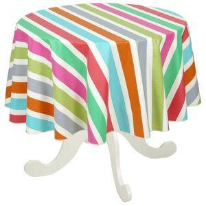 nappe ronde coton enduit 160 table de cuisine. Black Bedroom Furniture Sets. Home Design Ideas