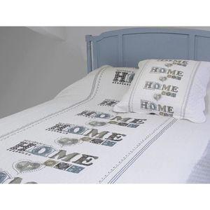 couvre lit 1 personne achat vente couvre lit 1 personne pas cher cdiscount. Black Bedroom Furniture Sets. Home Design Ideas