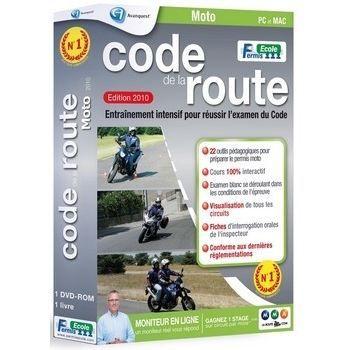code de la route moto 2010 logiciel pc de format prix pas cher les soldes sur cdiscount. Black Bedroom Furniture Sets. Home Design Ideas