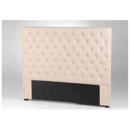 t te de lit velvet 160 lin amadeus achat vente chevet. Black Bedroom Furniture Sets. Home Design Ideas