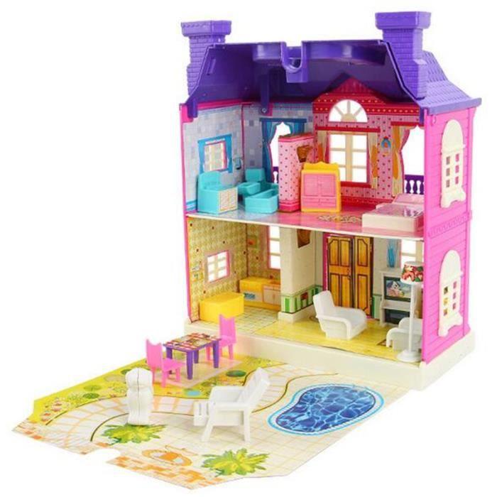 jeu de construction cube assemblage de maison avec led lumi re achat vente dinette cuisine. Black Bedroom Furniture Sets. Home Design Ideas