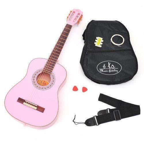 Ts ideen 5291 guitare de concert 3 4 acoustique avec for Housse guitare acoustique