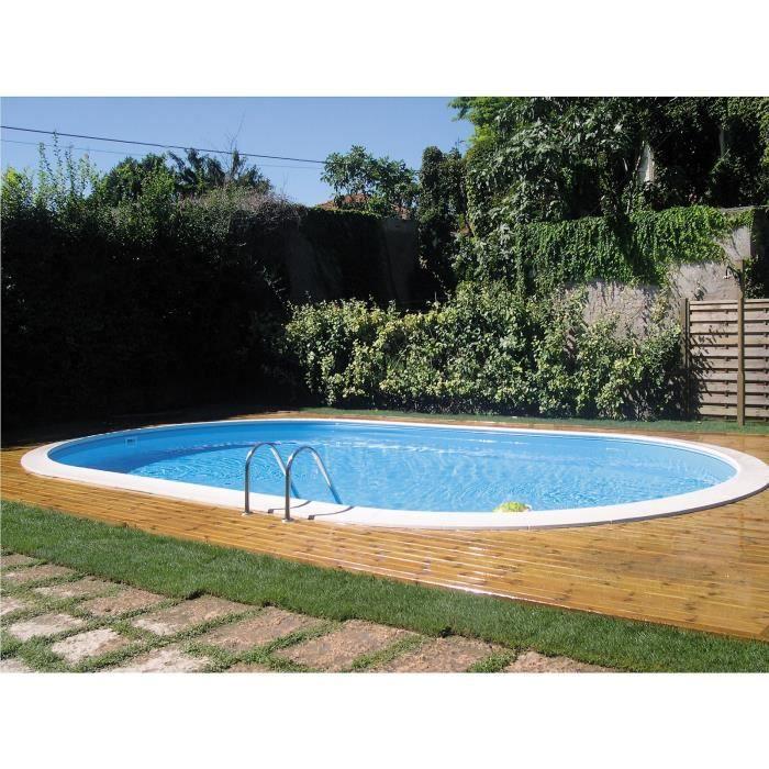 Piscine enterr e ovale avec filtre sable et accessoires for Achat piscine enterree