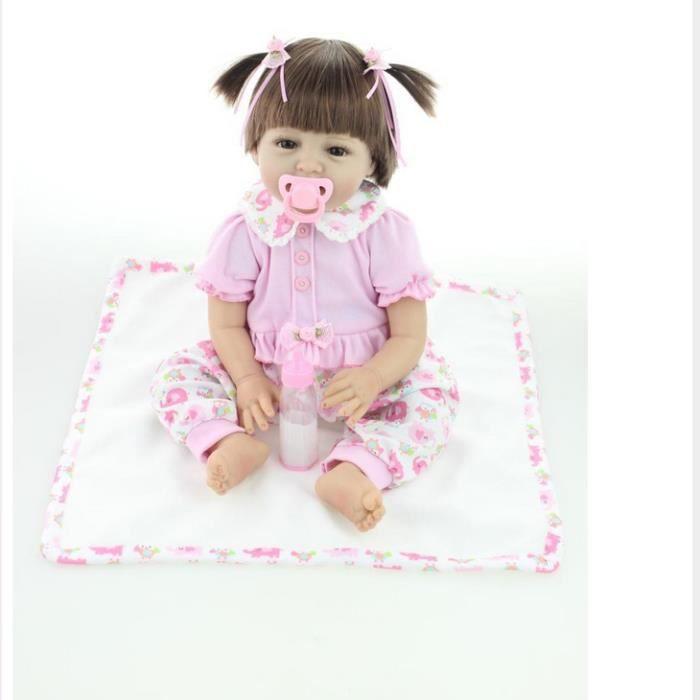 22 55 cm silicone reborn b b poup e jouet pour fille. Black Bedroom Furniture Sets. Home Design Ideas