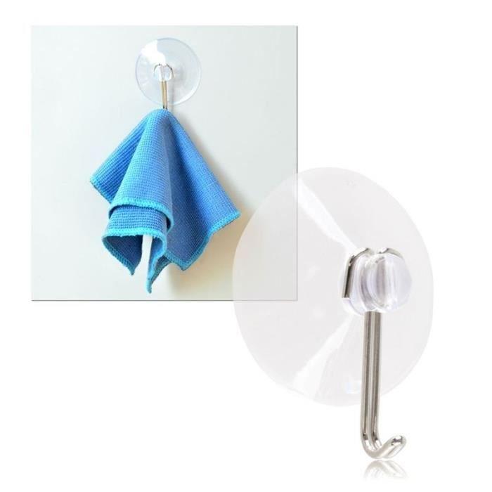 Insten universel ventouse avec crochet en m tal 40mm - Crochet ventouse salle de bain ...