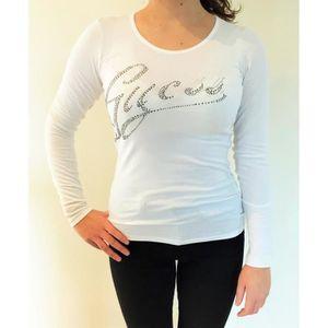 T-SHIRT Tee Shirt GUESS Femme Manches Longues