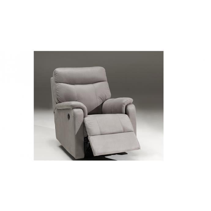 c me gris fauteuil relax lectrique achat vente. Black Bedroom Furniture Sets. Home Design Ideas