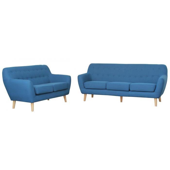 canap sofa divan ensemble canap scandinave 32 places tissu bleu v - Canape Bleu