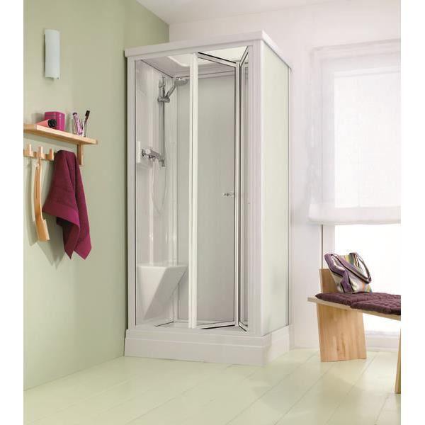 Cabine de douche complète Modèle BETWEEN de LEDA, en 100x75 Portes