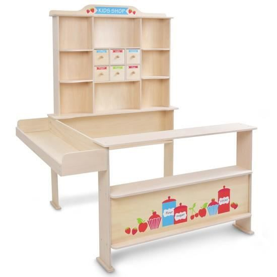 stand de la marchande pour enfant avec comptoir tiroir et cie achat vente marchande cdiscount. Black Bedroom Furniture Sets. Home Design Ideas