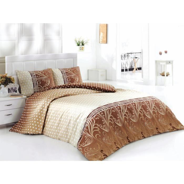 Parure de lit 240x220 cm coussins 60x60 cm achat vente housse de couett - Cdiscount parure de lit ...