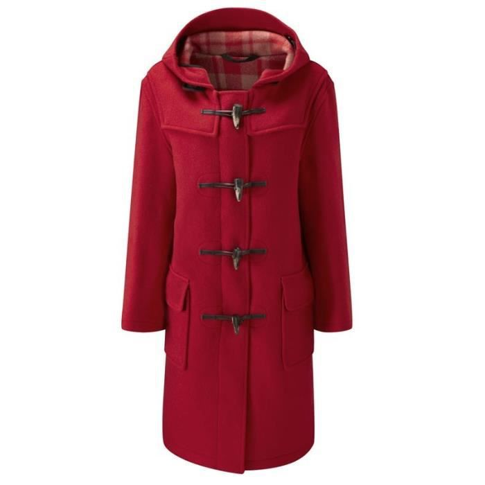 original montgomery duffle coat femme rouge achat vente manteau caban cdiscount. Black Bedroom Furniture Sets. Home Design Ideas