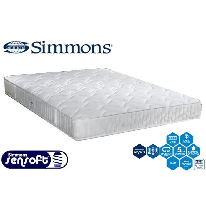 matelas simmons ressorts sensoft accueil latex 90x190. Black Bedroom Furniture Sets. Home Design Ideas