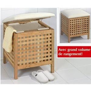 Tabouret pour salle de bain en bois gamme nordic achat - Banc de salle de bain en bois ...
