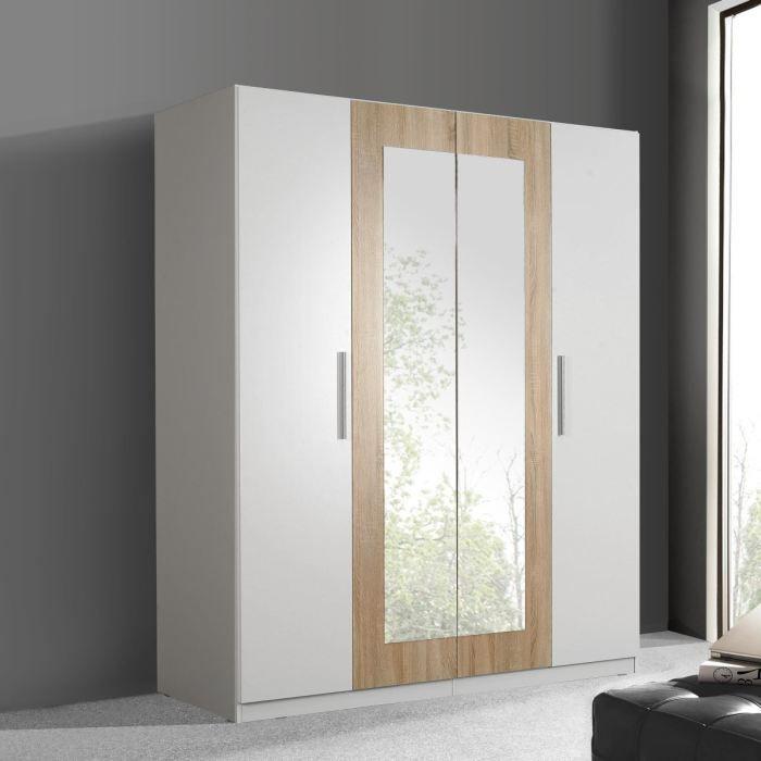 Finlandek armoire siisti 180x212 blanc ch ne achat - Chambre bois et blanc ...