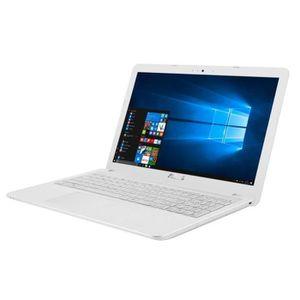 """ORDINATEUR PORTABLE ASUS PC Portable X541UA-XX264T blanc 15.6"""" - 4Go d"""