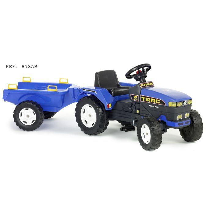falk tracteur farmtrac remorque bleu achat vente. Black Bedroom Furniture Sets. Home Design Ideas