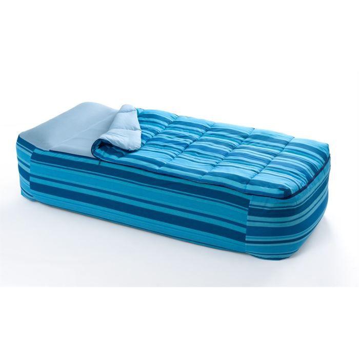 Set de couchage individuel combin drap housse achat vente lit gonflable airbed cdiscount - Drap housse pour matelas gonflable ...