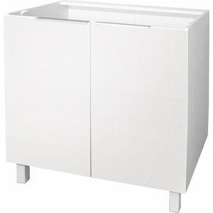 ELEMENTS BAS POP Caisson bas de cuisine L 80 cm - Blanc brillan