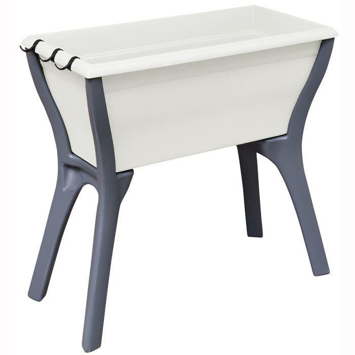 mon espace potager 78cm blanc cass achat vente carr. Black Bedroom Furniture Sets. Home Design Ideas