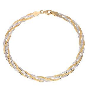 BRACELET - GOURMETTE LES BIJOUX D'EMMA Bracelet Or Bicolore 375° Femme