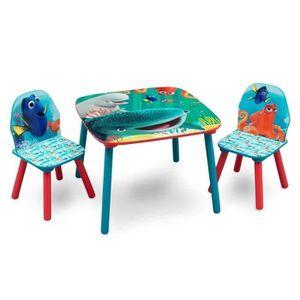 CHAMBRE COMPLÈTE  DORY  Table enfant et 2 chaises en bois