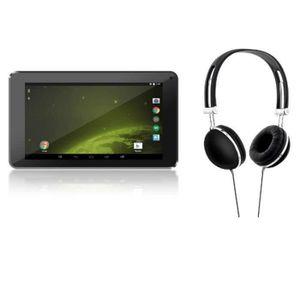 L-EMENT Tablette 7'' quadcore 8Go single cam + arceau casque noir