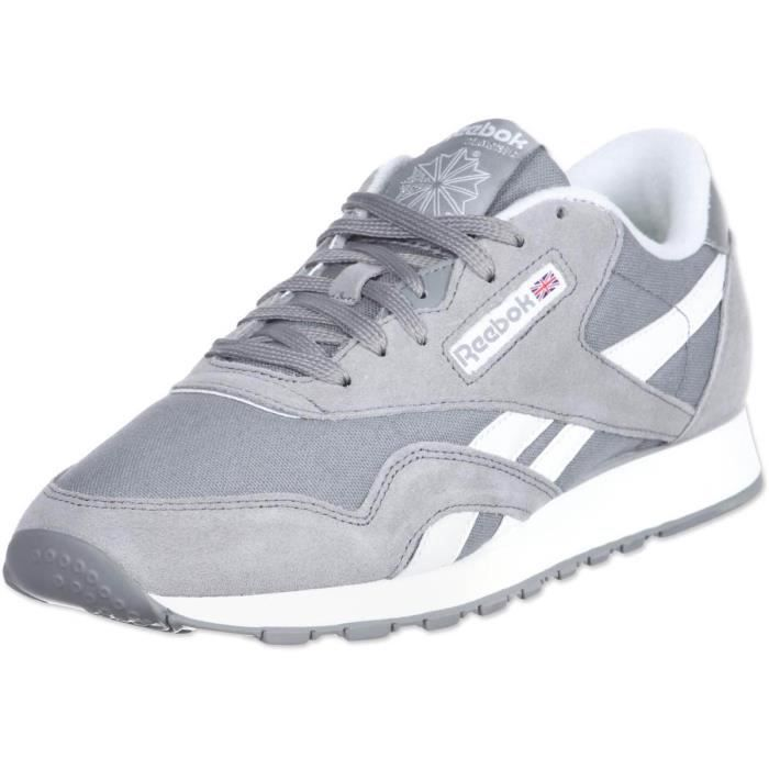 reebok baskets classic nylon chaussures homme homme gris. Black Bedroom Furniture Sets. Home Design Ideas