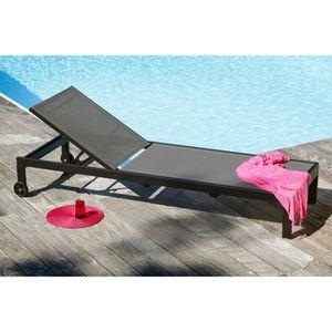 chaise longue transat achat vente chaise longue transat pas cher cdiscount. Black Bedroom Furniture Sets. Home Design Ideas