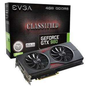 CARTE GRAPHIQUE INTERNE EVGA GeForce GTX 980 4Go DDR5 Classified