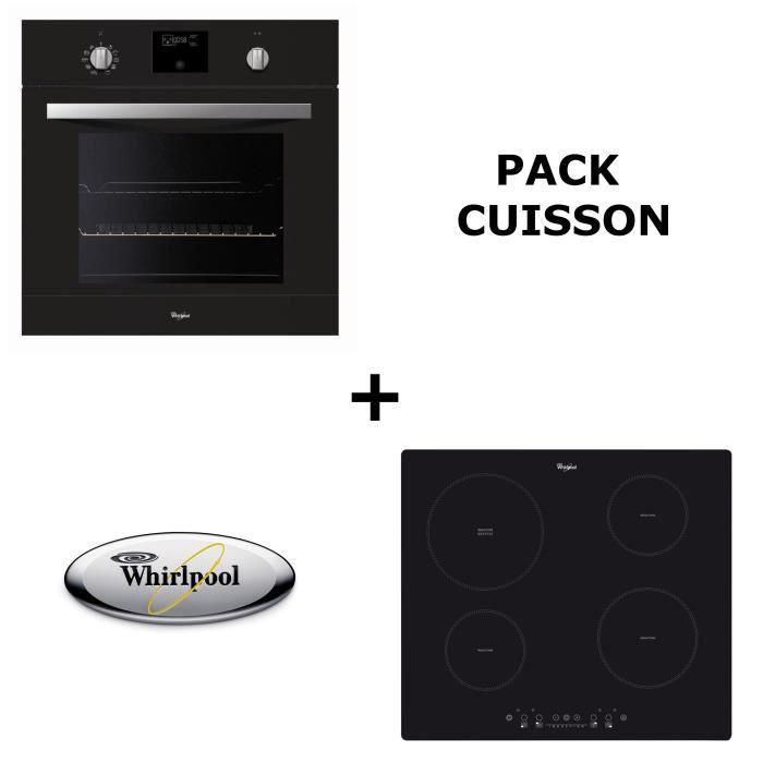 Whirlpool pack cuisson four pyrolyse table induction - Four chaleur tournante pyrolyse porte froide ...
