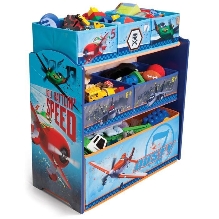 Planes meuble de rangement jouets 6 bacs achat vente for Meuble rangement jouets