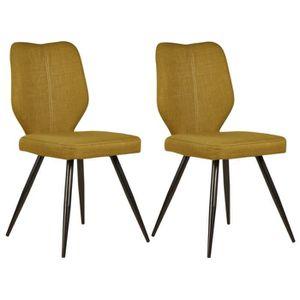 CHAISE BARBARA Lot de 2 chaises de salle à manger 46 cm -