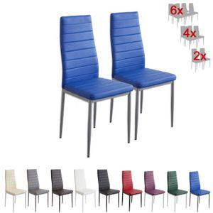 CHAISE Albatros 2869 MILANO Lot de 2 chaises, bleu