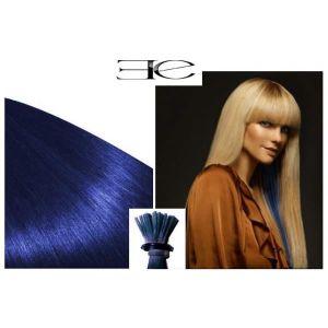 PERRUQUE - POSTICHE 20 mèches Extensions BLEU cheveux 100% naturels à