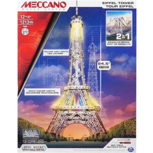 ASSEMBLAGE CONSTRUCTION MECCANO 2 en 1 Tour Eiffel Lumineuse / Pont de Bro