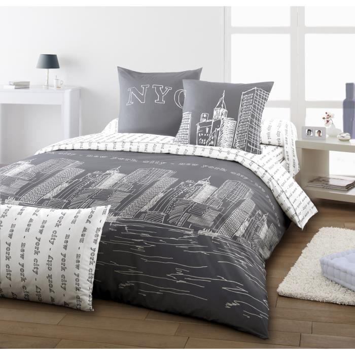 dodo drap housse harlem grey 140x190cm achat vente drap housse les soldes sur cdiscount. Black Bedroom Furniture Sets. Home Design Ideas