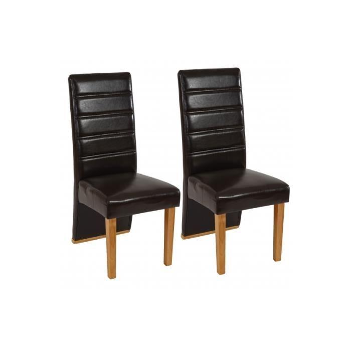 Chaise de salle manger lot de 2 magnifico brun achat for Chaise de salle a manger brun