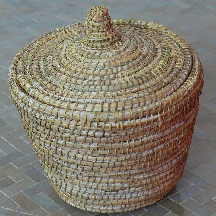 Panier en osier avec couvercle achat vente panier sac de plage 4250672603900 soldes - Panier en osier avec couvercle ...