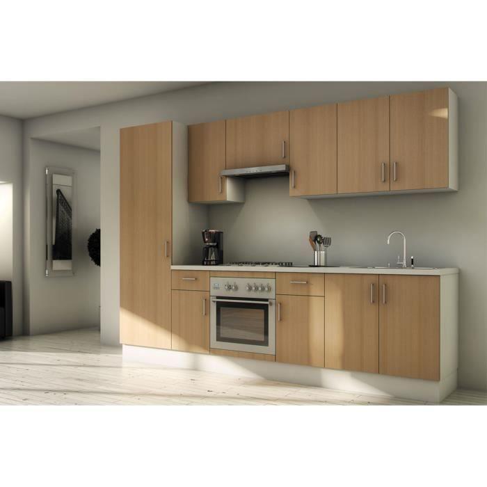 Pack cuisine compl te sudoe h tre 280cm meuble achat for Meuble complet cuisine