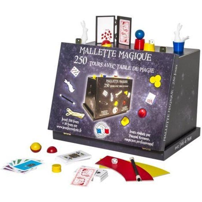 mallette magique 250 tours achat vente jeu magie les soldes sur cdiscount cdiscount. Black Bedroom Furniture Sets. Home Design Ideas