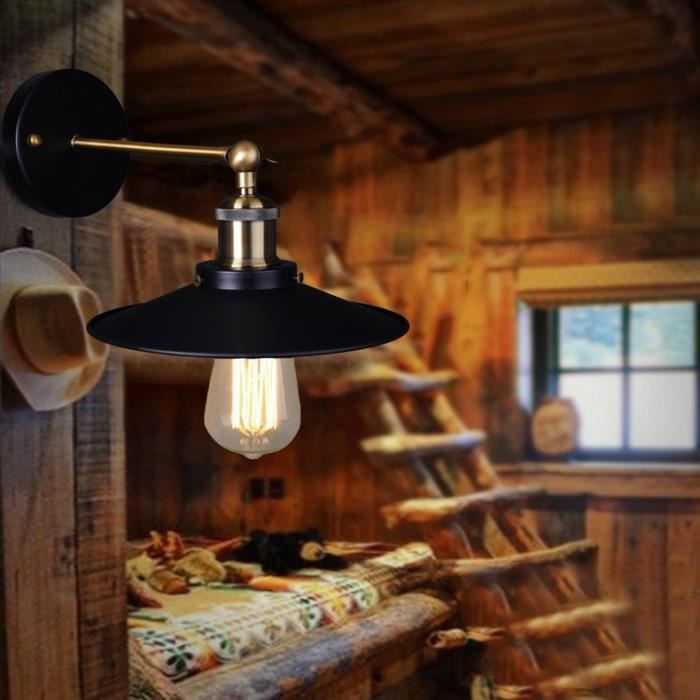 applique vintage plaqu industrielle mur lampe rtro - Appliques Vintage Industrielles Pour Salle De Bain