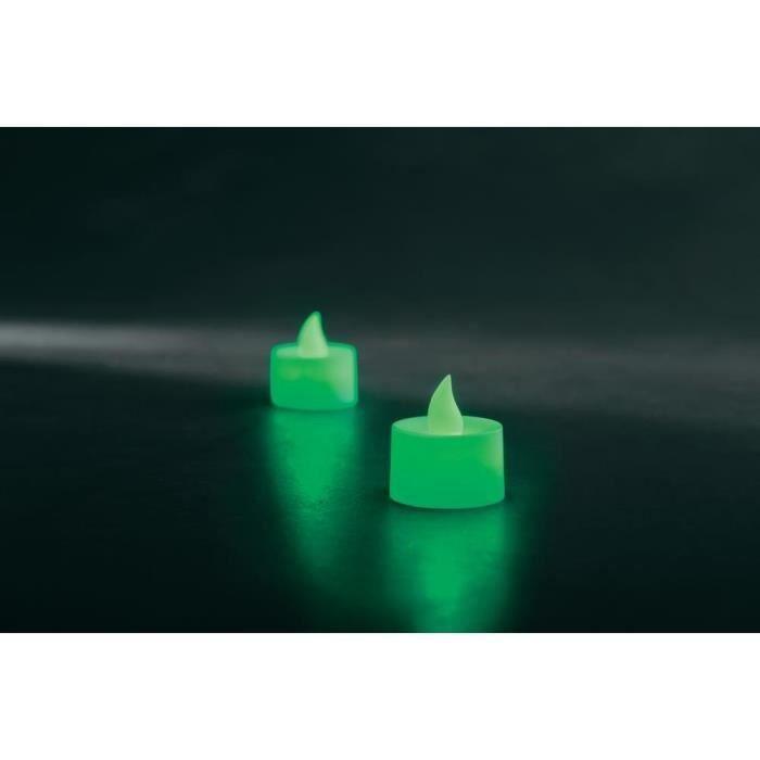 2 chauffe plat led piles comprises2 led vert achat. Black Bedroom Furniture Sets. Home Design Ideas