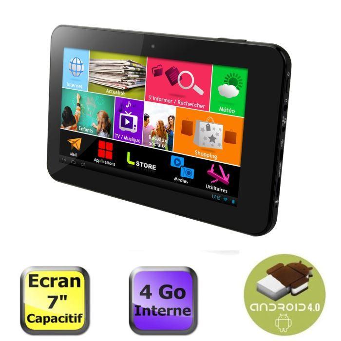 Logicom tablette tablife 70 lios 4 go - Tablette tactile 7 logicom ...