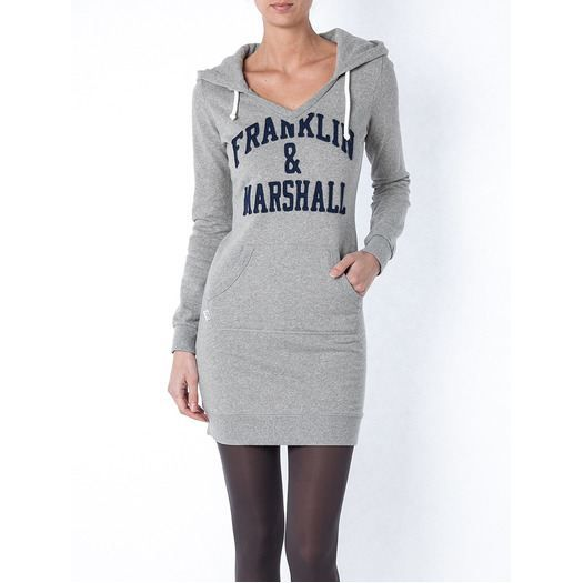 robe sweat shirt capuche gris achat vente robe soldes d t cdiscount. Black Bedroom Furniture Sets. Home Design Ideas